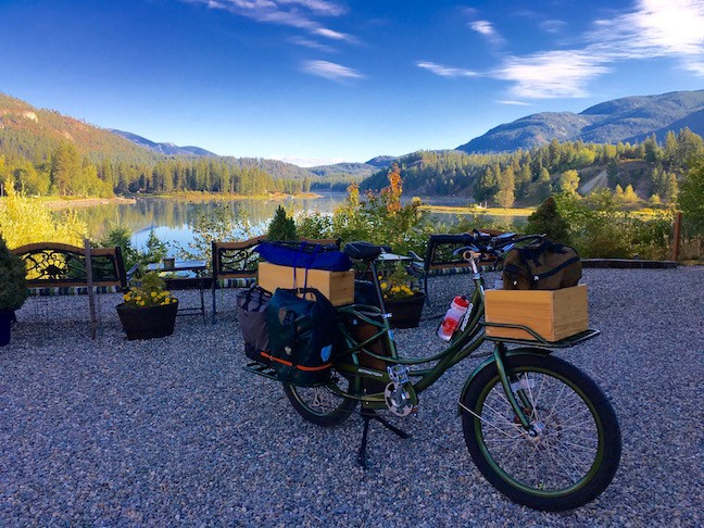 photo taken in Ione, Washington during electric bike roadtrip