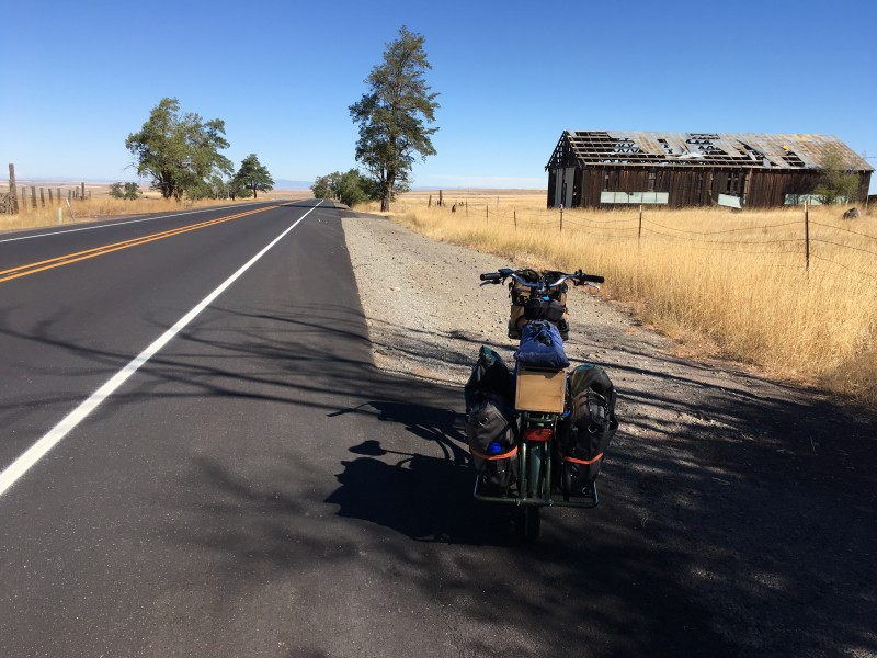 fully loaded Pedego Stretch Cargo Bike in Oregon