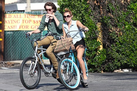 Miley Cyrus on Pedego