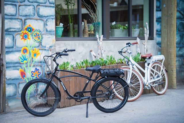 pedego canada electric bikes at store