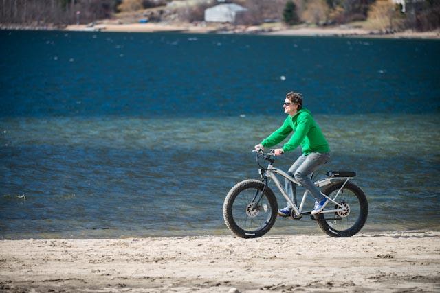 pedego-canada electric bikes on beach