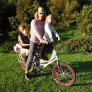 Anthony Clyde Creator of Pedego Stretch with family