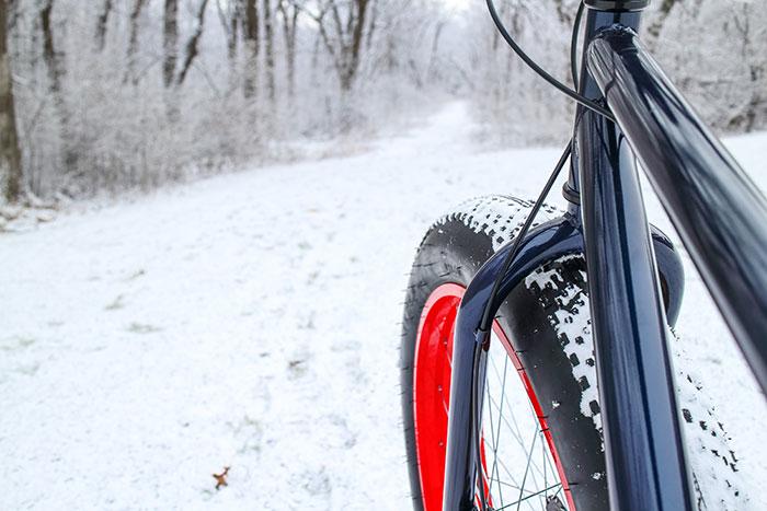 Pedego Canada electric bike on snow road