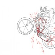 Electric Mountain Bikes Devil Illustration