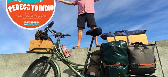 man with pedego electric cargo bike