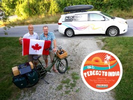 Jon Langille with Mike Clyde from Pedego Canada