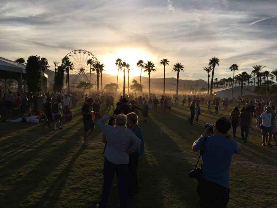 The grounds at Desert Trip in Indio California