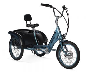 The Pedego trike is a comfortable and stylish three wheeler – empowering more people to safely enjoy riding.
