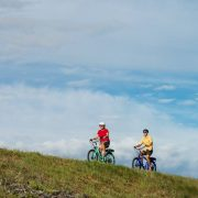 two riders on electric bikes in Prince Edward County
