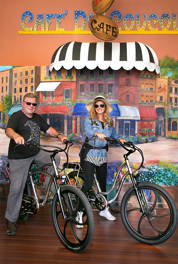 William Shatner on a Pedego Electric Bike