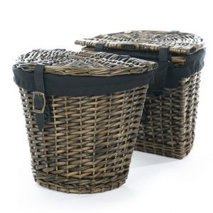 Dark Brown Pedego Rear Wicker Basket