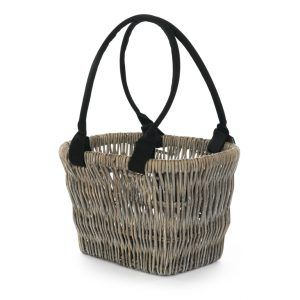 Grey Pedego Handlebar Wicker Basket