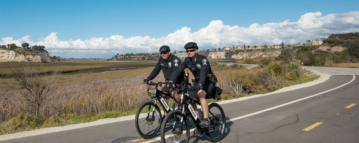 Police Officers on Electric Bikes